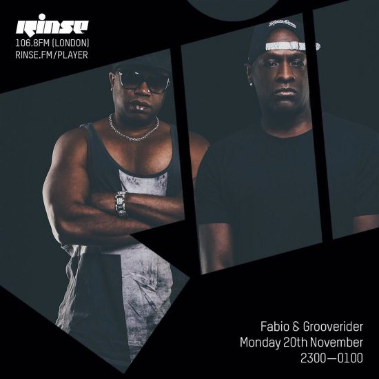 Fabio and Grooverider on Rinse FM 2017-11-20