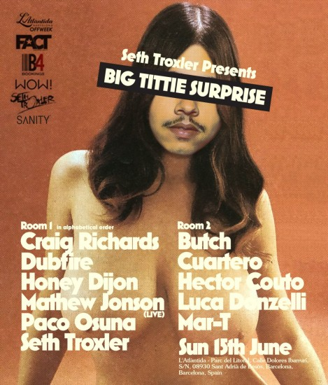 Seth Troxler @ Big Tittie Surprise, L'Atlantida, Off Sonar 2014-06-15 Sonar Festival 2014