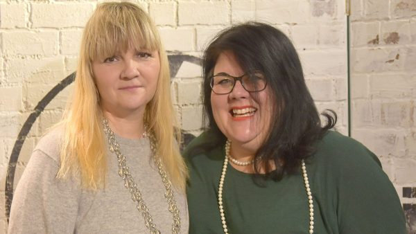 Amy Lamé 2018-01-07 with Sybil Bell, founder of Independent Venue Week