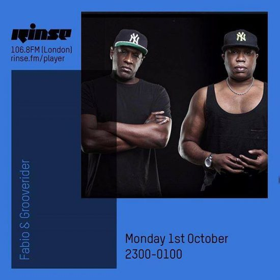 Fabio and Grooverider on Rinse FM 2018-10-03