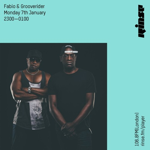 Fabio and Grooverider on Rinse FM 2019-01-07