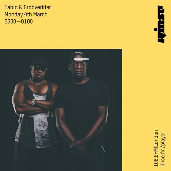 Fabio and Grooverider on Rinse FM 2019-03-04
