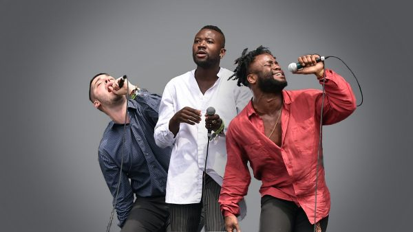 Iggy Pop 2018-05-18 Young Fathers sits in