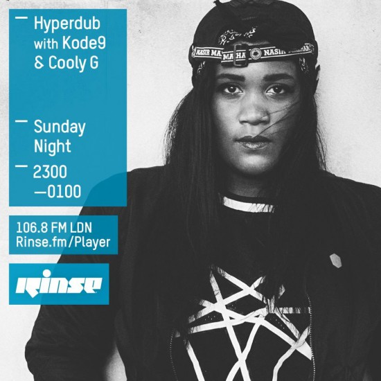 Kode9 & Cooly G - Hyperdub show on Rinse FM 2015-09-13