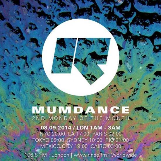 Mumdance on Rinse FM 2014-09-08