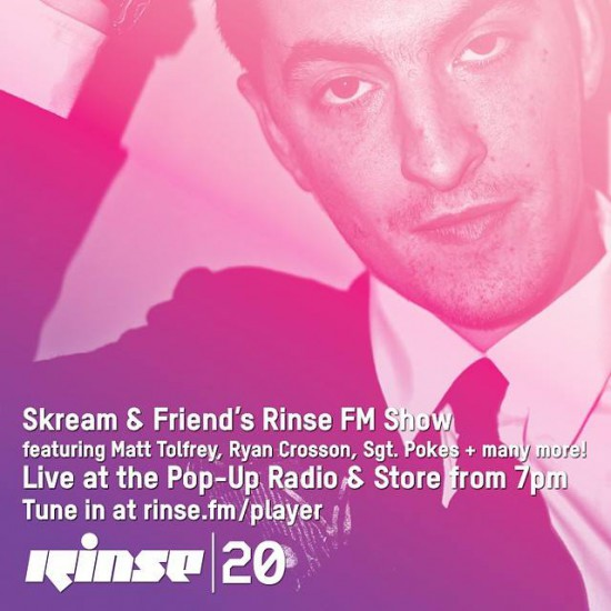 Skream & Friends on Rinse FM 2014-09-23 with Route 94, Matt Tolfrey, Ryan Crosson, Sgt. Pokes ++