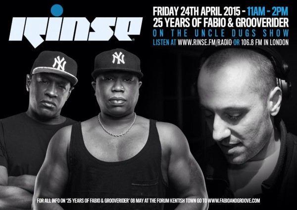 Uncle Dugs on Rinse FM 2015-04-24 with Fabio and Grooverider